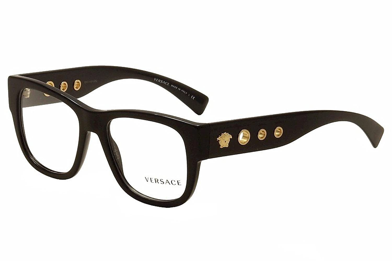 Amazon.com: Eyeglasses Versace VE 3243 GB1 BLACK: Clothing