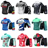 INBIKE Men's Summer Breathable Cycling Jersey and 3D Silicone Padded Shorts Set Outfit, Red, (US)L-(CN)XXL