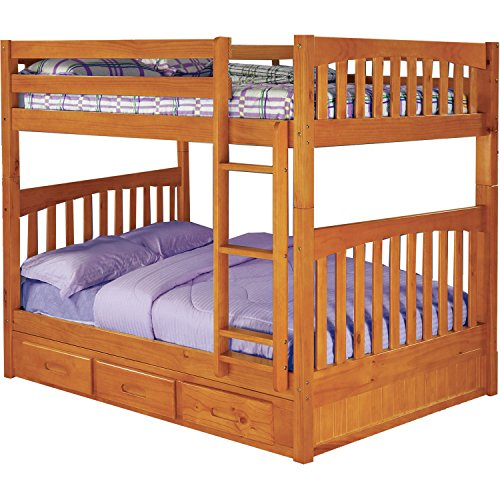 Cambridge 98915FFDW-HN Parkview Bunk Bed with Storage Children's Frames, Full over - Cambridge Shopping
