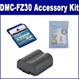 Panasonic Lumix DMC-FZ30 Digital Camera Accessory Kit includes: KSD2GB Memory Card, ZELCKSG Care & Cleaning, SDCGAS006 Battery