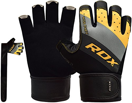 RDX Gym Weight Lifting Gloves Workout Fitness Bodybuilding Breathable Powerlifting Exercise Wrist Support Strength Training