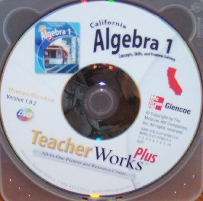 California Algebra 1 TeacherWorks Plus; Concepts, Skills, and Problem Solving (All-In-One Planner and Resource Center)