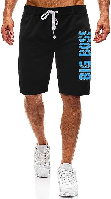 OPAKY Pantalón Corto Bermuda Pantalones De Tela para Hombre ...