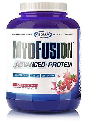 Gaspari Nutrition Myofusion Advanced Protein, Strawberries and Cream, 4 -