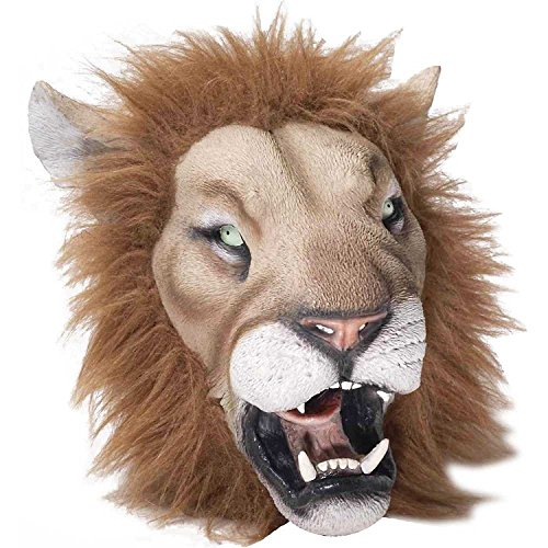 King Theatre Costumes Lion (Lifelike Lion Rubber Mask)