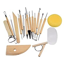 Celendi 19 Piece Professional Wood Sculpture Carving Tool Set Pottery Tools