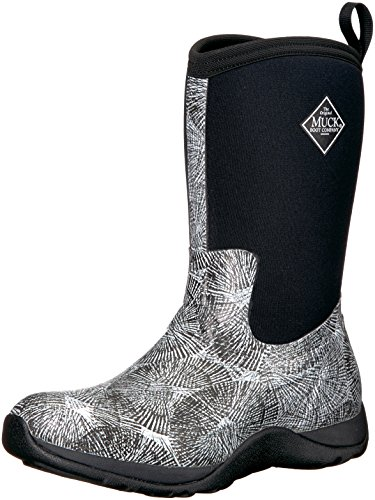 Weekend Height Black Spiral Muck White Boots Winter Arctic Mid Rubber Women's Uqn5Fw