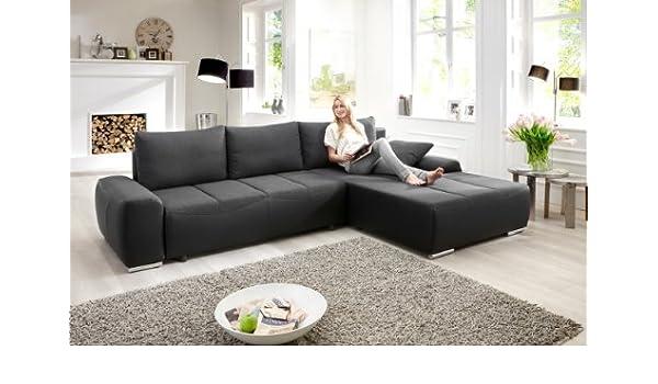 Sofá cama esquina cojín Malaga sofá con chaise longue y ...