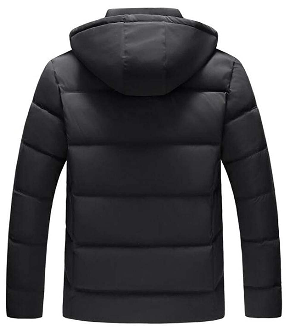 JuJuTa Men Padded Removable Hoodid Quilted Zip Casual Jacket Parka Coat