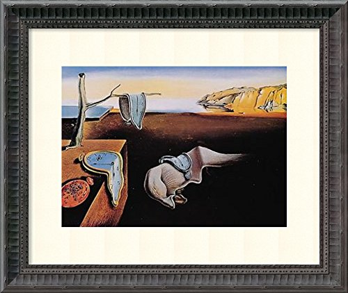 Framed Art Print, 'The Persistence of Memory, 1931' by Salvador Dali: Outer Size 18 x 15