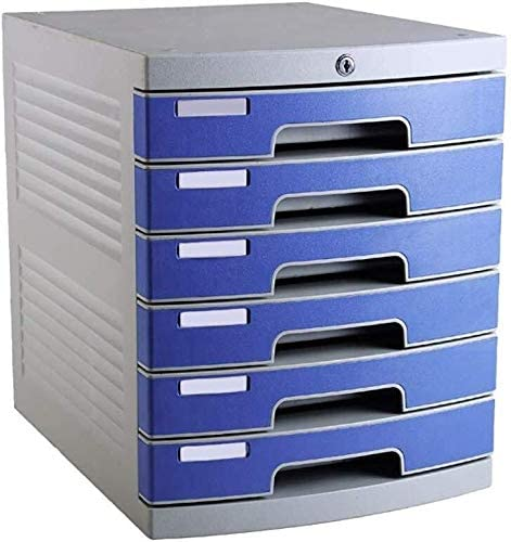File Cabinet File Cabinets File Cabinet Desk Storage Unit Organizer Lockable File Cabinet A4 Box for Office 6-Layers Size:12in15.2in14.6in