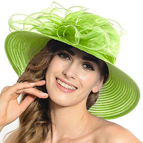 [Lightweight Kentucky Derby Church Dress Wedding Hat #S052 (Green fruit)] (Fruit Hat Lady)