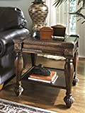 Mantera Dark Rustic Brown Wood Square End Table