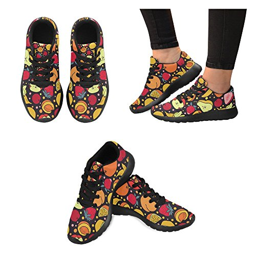 InterestPrint Womens Road Running Shoes Jogging Lightweight Sports Walking Athletic Sneakers Strawberry Cccyh