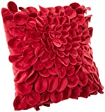 Brentwood Starburt Petals 16-Inch Pillow, Red
