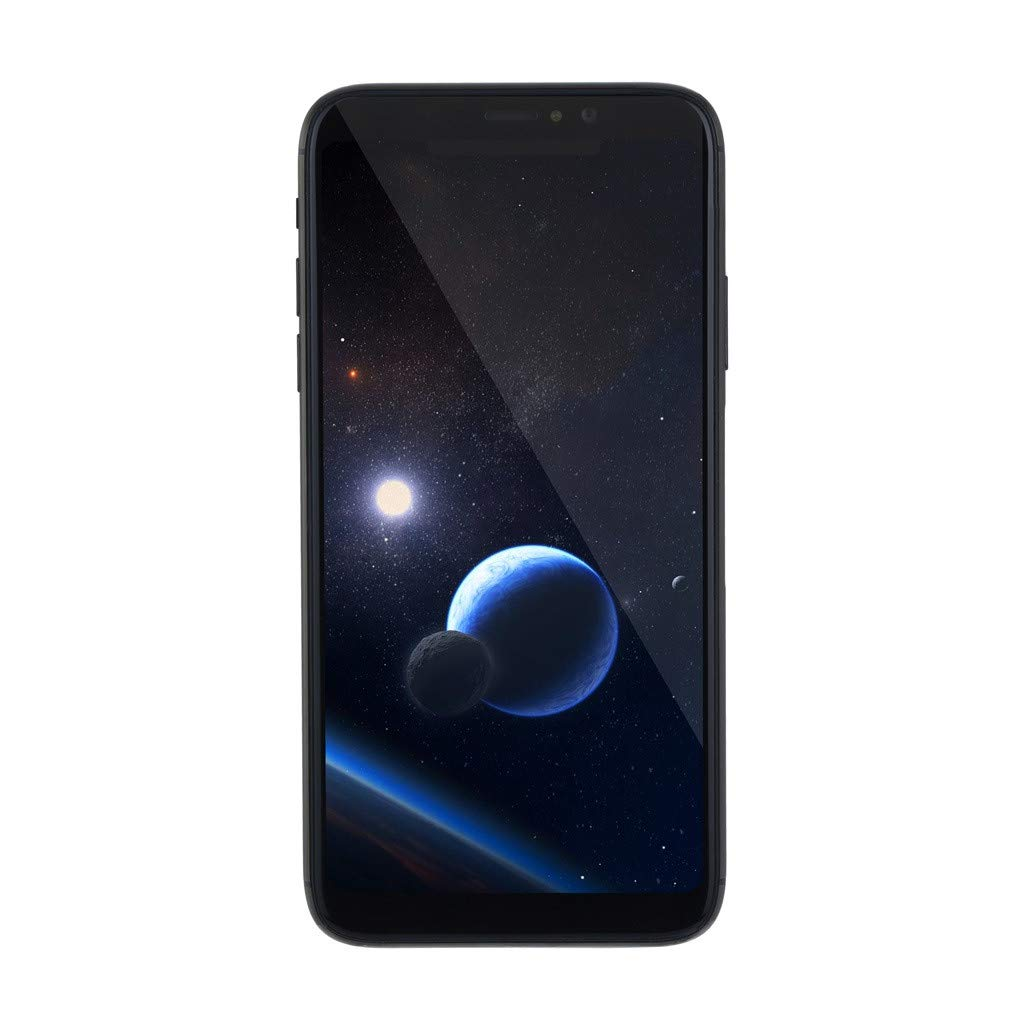 Unlocked Smartphone, 5.8 Inch 18:9 IPS Arc Edge Capacitive Screen Face ID Beauty Camera Cell Phone Quad-Core 1GB+8GB Android 5.1 Dual SIM 3G Mobile Phone (Black, Android Phone)