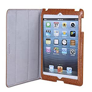Nsaneoo - Lizard Skin PU Leather Case with Stand and Protect Film for iPad mini , Dark red