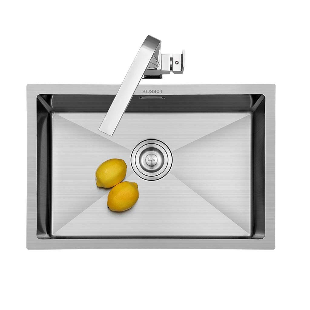 Silver 423522cm Wash Stands & Vanity Units Sink Stainless Steel Sink Small Single Sink Kitchen Sink Square Sink Sink Basin Sink 4MM Thick Stainless Steel Sink Wash Basin (color   Silver, Size   42  35  22cm)