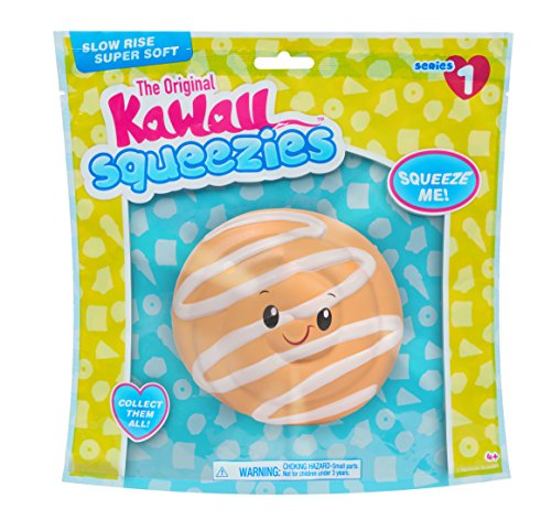 Just Play Kawaii Squeezies Jumbo Food Cinnamon Bun, (Bun Play Food)