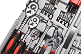 CARTMAN Tool Set 205 Pcs Red, Ratchet Wrench with