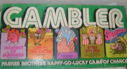 Gambler Boardgame Copyright 1977 by Parker Brothers