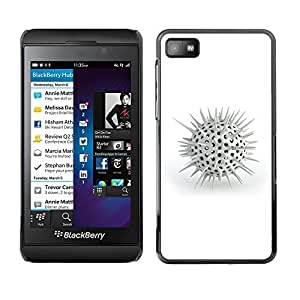 GagaDesign Phone Accessories: Hard Case Cover for Blackberry Z10 - White Spikes