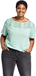 af360b5c97366 Ava   Viv Women s Plus Size Short Sleeve Embellished T-Shirt