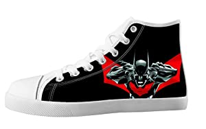 Custom High Top Lace Up Canvas Batman Individualized Design For Women's Shoes-7M(US)
