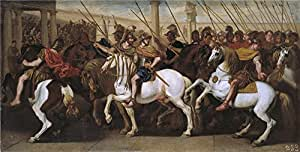 'Falcone Aniello Soldados romanos en el circo Ca. 1640 ' oil painting, 12 x 24 inch / 30 x 60 cm ,printed on polyster Canvas ,this Reproductions Art Decorative Canvas Prints is perfectly suitalbe for Hallway artwork and Home decor and Gifts