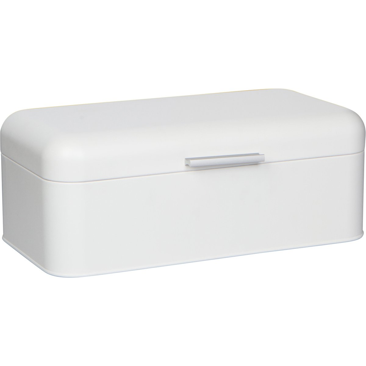 "Large White Bread Box - Extra Large Storage Container for Loaves, Bagels, Chips & More: 16.5"" x 8.9"" x 6.5"" 