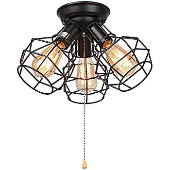 Amazon design house 519264 1 light ceiling light with pull laluz wire cage ceiling lights 3 light pull string flush mount ceiling light aloadofball Choice Image