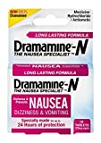 Dramamine-N Long Lasting Formula | 10 Tablets | Pack of 2 | Relieves and Prevents Nausea, Dizziness, and Vomiting for up to 24 Hours