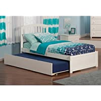 Atlantic Furniture Richmond Twin Flat-panel White Urban Trundle with Footboard