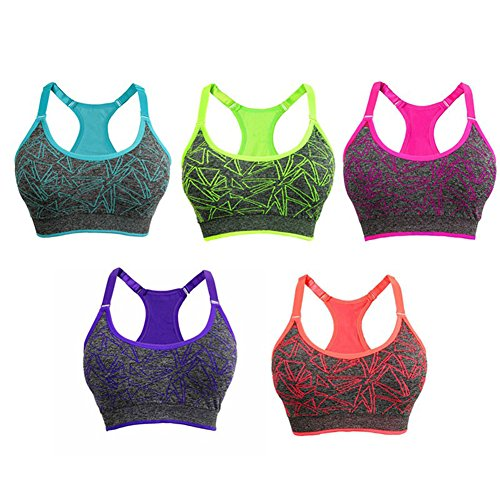 65fb666df5924 New Underwear Women Sports Bra Running Vest Fitness Gym Yoga Top Wireless  Push up Shockproof Crop