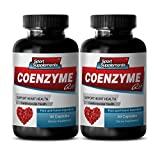 Coenzyme Q10 Supports Heart Health, Energy Production (2 Bottles, 60 Capsules)