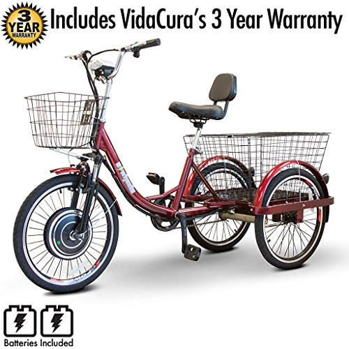 EWheels (EW-29) Scoot-Around Pedal or Electric Power 3 Wheel Trike with 3 Year Extended ()
