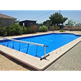 Enrollador manta térmica o cobertor solar para Piscina de hasta 4,2 metros (Con Reductor de Potencia)