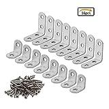 Tools & Hardware : Purture 2 Size 16 Pieces Corner Brackets 90 Degree Angle Bracket Corner Braces Stainless Steel L Bracket with Screws,20 x 20 mm,40 x 40mm(Each Size 8 Pieces)