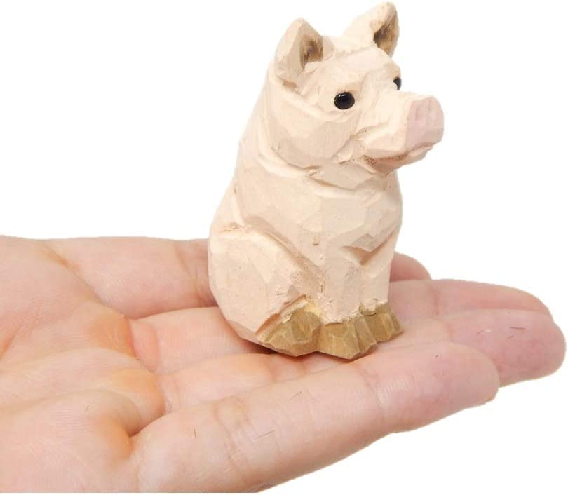 Pig Figurine Statue Farm Small Barn Animal Art Home Decor Sculpture Miniature