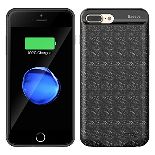 Rechargeable Extended Battery Charging Case for iPhone 8//7 Compatible with Wire Headphones-Black Modernway Battery Case for iPhone 8//7 4.7 inch 4000mAh Portable Charger Case