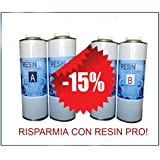 15% de rabais. Une offre spéciale (1,6kg + 1,6kg)–Set résine époxy Transparent/Multi-usages kg 1,6+ résine époxy Transparent/Multi-usages kg 1,6–Effet aqcua