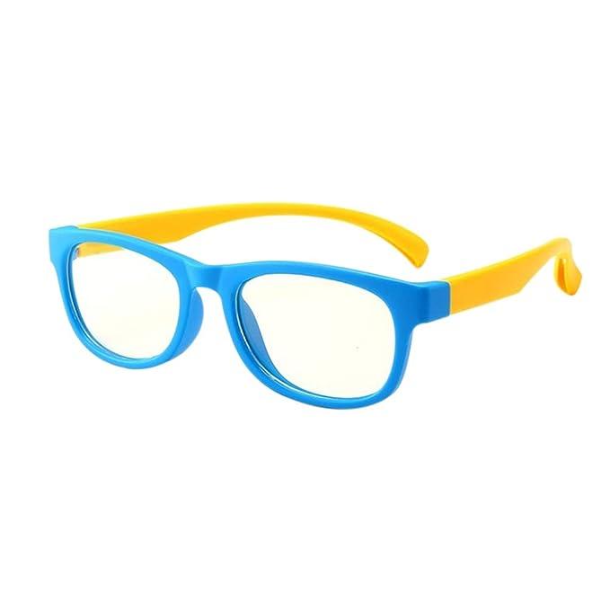 97eb29f0df Ansemen Niños Anti Radiación Gafas - Blue Light Blocking Vasos UV Proteccion  Computadora Juego Anteojos HD Lentes Unisex Cute Vidrios: Amazon.es: Ropa y  ...