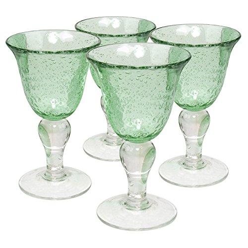 Artland Iris Wine, 8-Ounce, Light Green, Set of 4