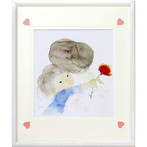 いわさきちひろ『母の日(色紙)』オフセット印刷 人物画 お母さん 親子 母と子 ギフト 贈答 プレゼント 児童画【複製 ポスター】【B4106】 B07C628WJC