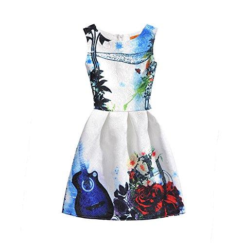 FTSUCQ Girls Butterfly Pattern Princess Long Dress,White - Online Shopping Perth Australia