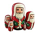 Cute Santa Claus Wear Ushanka and Green Gloves