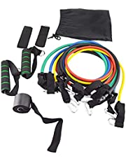 11Pcs/Set Resistance Bands Workout Exercise Training Tube Pull Rope Rubber Expander Elastic Yoga Pilates abs Exercise Fitness Bands
