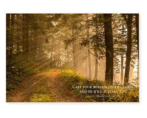 Cast Your Burden on The Lord TimberArt Wood Photo Print 12x18