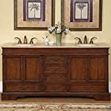 Silkroad Exclusive Bathroom Vanity HYP-0715-BB-UIC-72 Ashley 72