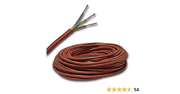 ver men/ú desplegable SIHF-J 3 x 2,5 mm2 Cable de silicona para sauna para sauna mm2 por ejemplo 100/% cobre OFC esta/ñado selecci/ón en pasos de 1 metro